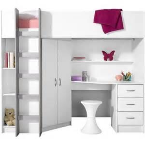 Lit Mezzanine Avec Bureau Intégré Ikea by Lit Mezzanine Avec Plan De Travail Armoire 233 Tag 232 Res
