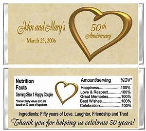 50th anniversary wedding candy wrappers party favors With 50 wedding anniversary party favors