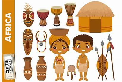 Clipart Zulu African Clip Africa Tribe Graphics