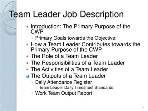 team lead job description 2 resume team leader target