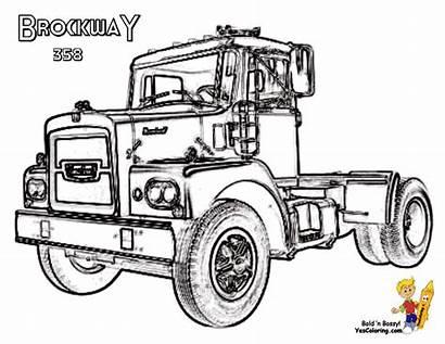 Coloring Brockway Trucks Truck Pages Boys Wheelers