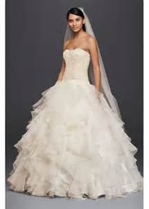 ruffle bridesmaid dress organza ruffle skirt wedding dress davids bridal