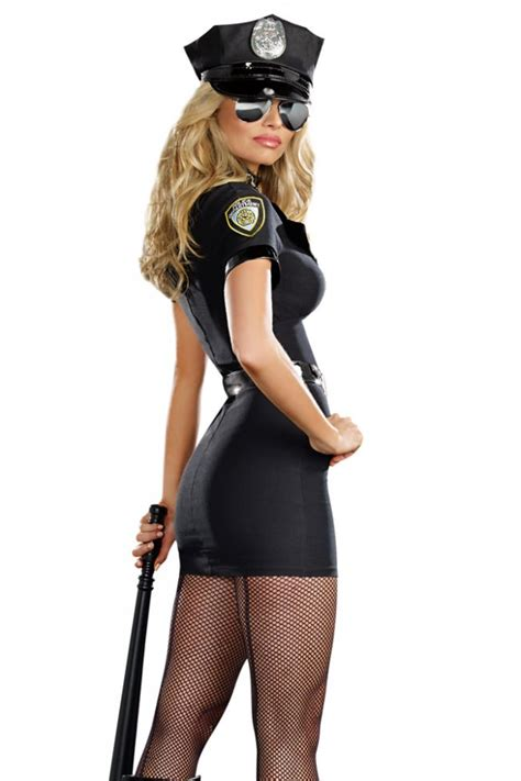 officer anita bribe fancy dress costume womens sexy