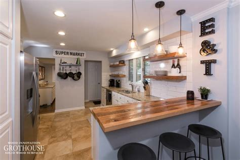 Kitchen Bar by Custom Wood Countertops For Farmhouse Style Kitchens