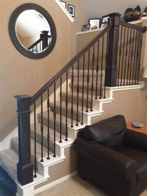 Banister Rails by At The Ballesteros Residence We Removed The Newel