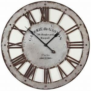Horloge Murale Industrielle : grande horloge murale industrielle d 73 5 cm de l 39 authenticit pour votre int rieur ~ Teatrodelosmanantiales.com Idées de Décoration