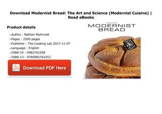 modernist cuisine pdf modernist bread the and science modernist by