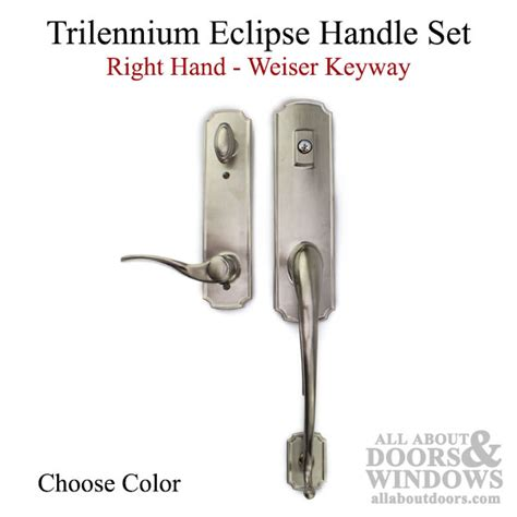 parts for glass shower doors trilennium eclipse handle with grip right kwikset