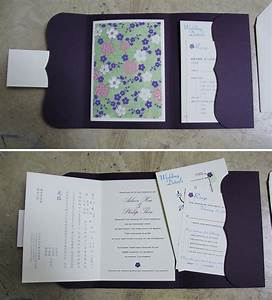 aileen invite booklet With booklet pocketfold wedding invitations