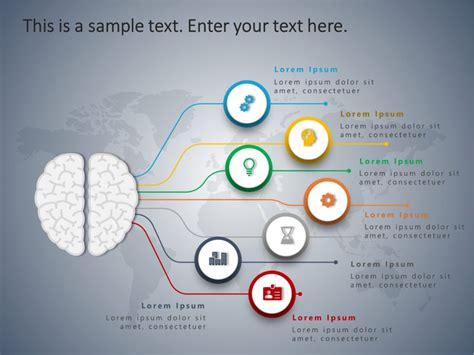 4 Steps Brain PowerPoint Template | Powerpoint templates ...
