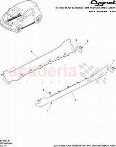 Aston Martin Cygnet Sill Appliques Parts