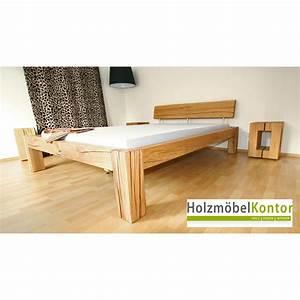 Bett Aus Balken : balkenbett eiche 140x200cm bett von ~ Markanthonyermac.com Haus und Dekorationen