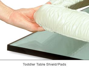 shield table pad a h childproofers products we use furniture
