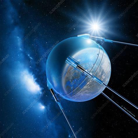 Sputnik 1 satellite - Stock Image - S770/0011 - Science Photo Library