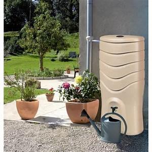 Recuperateur Eau De Pluie 1000 Litres : r cup rateur d 39 eau taupe kit collecteur 350 litres ~ Premium-room.com Idées de Décoration