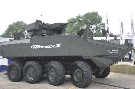 Terrex 3 8x8 APC armoured vehicle personnel carrier