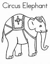 Circus Elephant Coloring Pages Outline Drawing Clipart Elephants Sheet Getdrawings Getcolorings Printable sketch template