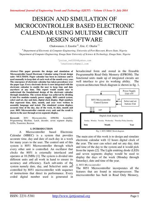 Pdf Design Simulation Microcontroller Based