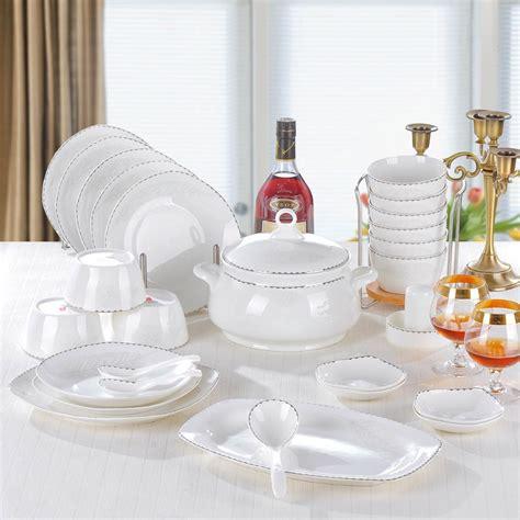 china bone dinnerware quality ceramic sets aliexpress jingdezhen royals sliver
