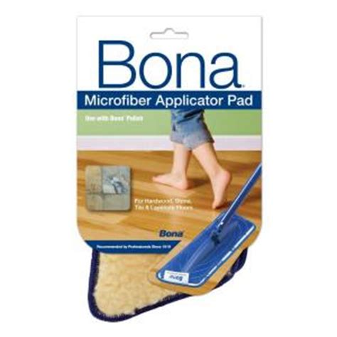bona floor finish application bona microfiber applicator pad at0002424 the home depot