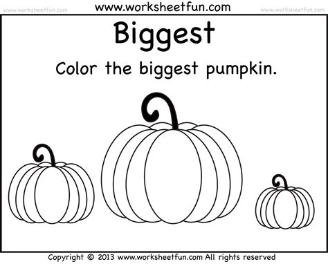 and smallest pumpkin 2 worksheets free