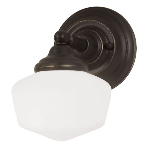 Bath Lighting Sconces by Sea Gull Lighting Academy 1 Light Heirloom Bronze Wall