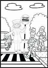 Road Coloring Getcolorings Printable Safety Sheets sketch template