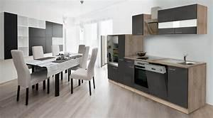 Küchenzeile 310 Cm : respekta k che k chenblock k chenzeile 310 cm eiche s gerau grau designhaube ebay ~ Indierocktalk.com Haus und Dekorationen