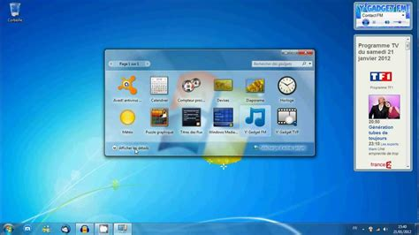 gadget bureau windows tutoriel installer désinstaller un gadget de bureau sous