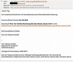 Telekom Rechnung Fake : trojaner warnung 1 1 fake e mails im umlauf mimikama ~ Themetempest.com Abrechnung