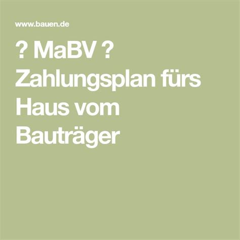 Mabv Zahlungsplan Fuers Haus Vom Bautraeger by Mabv Zahlungsplan F 252 Rs Haus Vom Bautr 228 Ger Bauen