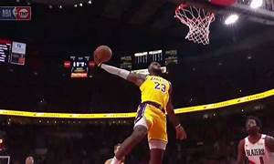 Watch Lebron James Has Two Huge Dunks For First Career