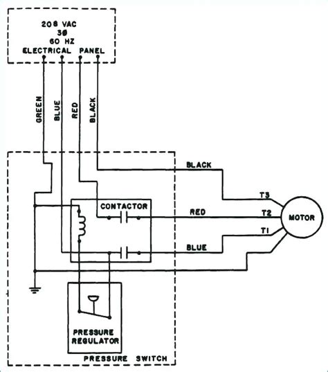 220v Schematic Wiring Diagram by Wiring Diagram For 220 Volt Air Compressor
