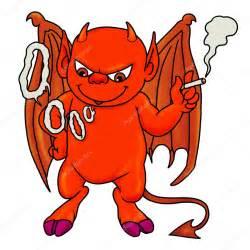 Demon Smoking Cartoon