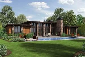 Modern Style House Plan - 3 Beds 2 50 Baths 2557 Sq/Ft