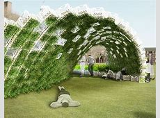 Living Pavilion Green Walled Garden Wave Coming to
