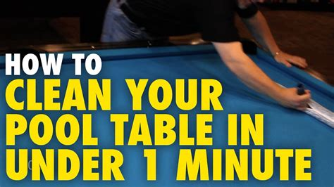 How To Clean Your Pool Table In Under A Minute  Ozone