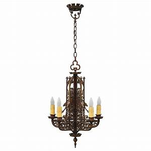 Beautiful antique tudor style chandelier at stdibs