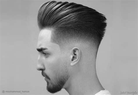 pompadour fade haircuts  men