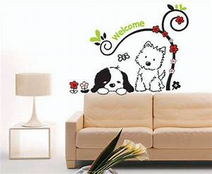 bedroom decoration items dog wall sticker decals stickers With what kind of paint to use on kitchen cabinets for car stickers and decals