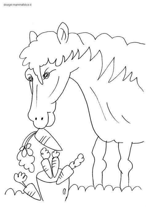 disegno da colorare  bambini il cavallo disegni