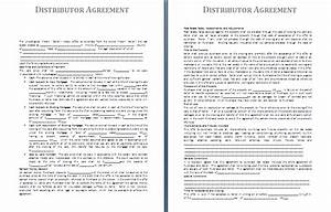 distribution agreement template free agreement and With distributorship agreement template