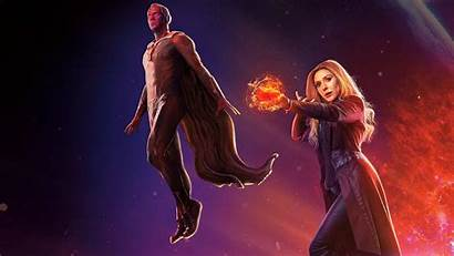Scarlet Witch Vision Avengers Marvel Wallpapers Visione