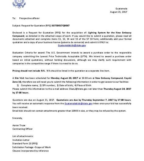 sgtq invitation letter  rfq  embassy