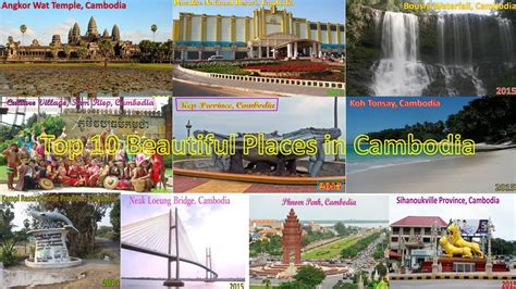 Top 10 Most Beautiful Places In Cambodia Youtube