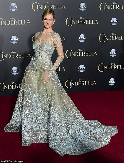 Lily James transforms into a princess at US premiere of Cinderella   Daily Mail Online