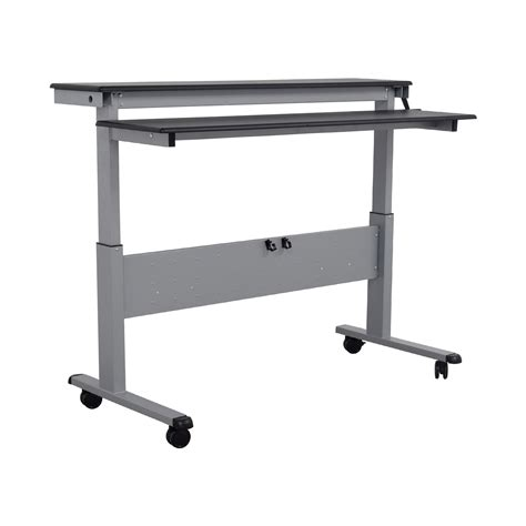 86% Off  Rakuten Rakuten Crank Adjustable Height Sit To. Small Rectangle Table. Student Desk And Chair Combo. Table Saw Sale. Kee Klamp Desk. Table Top Display Cases. Country Coffee Tables. Wood Student Desk. Deck Table