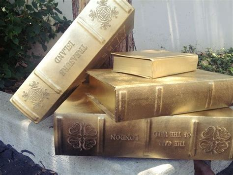Diy Home Decor Books by Diy Vintage Inspired Gold Books Diy