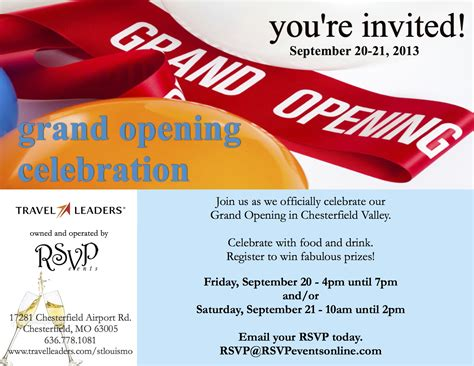 St. Louis Travel Agency Grand Opening Celebration