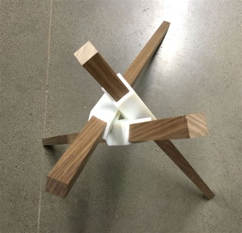 how to make table legs from wood a walnut table prototype using 3d printing woodworking
